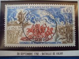 """1970-79-timbre Oblitéré N° 1679    """" Bataille De Valmy      """"     0.60 - France"""