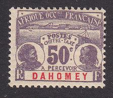 Dahomey, Scott #J6, Mint Hinged, Dahomey Natives, Issued 1906 - Neufs
