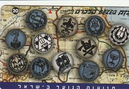 TARJETA TELEFONICA DE ISRAEL. Youth Movements. 906M. BZ-256. (337). - Israel