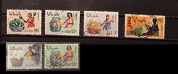 Somalia 1961 - 1968 Fruits And Woman 6 Stamps Used - Somalia (1960-...)