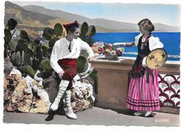 COTE D'AZUR - Costumes Régionaux - Ed. La Cigogne N° 99.148.45 Colorisée - Provence-Alpes-Côte D'Azur
