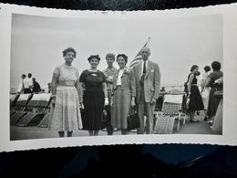 PHOTO ORIGINALE _ VINTAGE SNAPSHOT : CROISIERE Sur PAQUEBOT * UNITED STATES _ SCENE De VIE _ 1957 - Bateaux