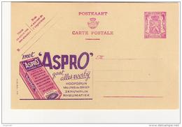 Publibel Neuve N° 579 A(  Met ASPRO  Gaat Alles Voorbÿ) - Entiers Postaux