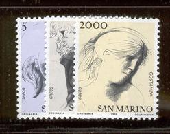 SAN MARINO 1978 Civic Virtues Scott Cat. No(s). 931-933 MNH - Unused Stamps