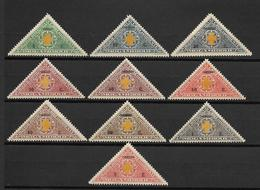 Portugal (Moçambique) 1928 - Selos De Porte Franco, Com Sobrecarga - Serie Completa - Mozambique