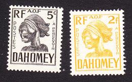 Dahomey, Scott #J19, J27, Mint Hinged, Carved Mask, Issued 1941 - Dahomey (1899-1944)