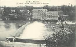 """/ CPA FRANCE 81 """"Brens, écluse, Chaussée Et Moulin De La Bourrelie"""" / Le Tarn Illustré - France"""