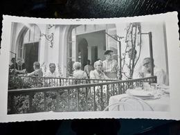 PHOTO ORIGINALE _ VINTAGE SNAPSHOT : TERRASSE RESTAURANT _ SAINTE CATERINA _ ITALIE _ 1957 - Lieux