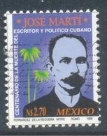 JOSE MARTI  POETA CUBANO MEXICO  1905  SC 1916 MNH - Mexique