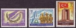 1965 TURKEY 50TH ANNIVERSARY OF THE CANAKKALE DARDANELLES VICTORY MNH ** - 1921-... République