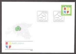 Estonia 2006 Stamp FDC Rapla County Mi 565 - Timbres