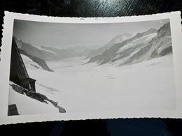 PHOTO ORIGINALE _ VINTAGE SNAPSHOT : GLACIER Du JUNGFRAU _ ALPES _ SUISSE _ 1957 - Lieux