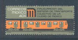 TREN CD DE MEXICO  INAUGURACIÓN METRO  MEXICO  1905  SC 1005 MNH - Mexique