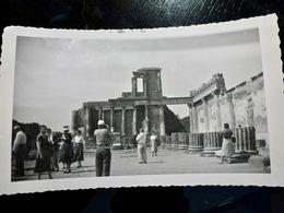 PHOTO ORIGINALE _ VINTAGE SNAPSHOT : RUINES De POMPEI _ CAMPANIE _ ITALIE _ 1957 - Lieux