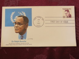USA 1982 FDC Cover New York - United Nations - Ralph Bunche - Etats-Unis