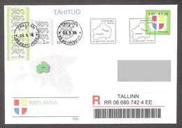 Estonia 2006 Stamp FDC Rapla County Mi 565 REGISTERED - Estonie