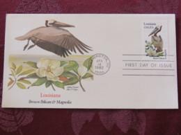 USA 1982 FDC Cover Washington - Louisiana State Bird And Flower - Pelican - Magnolia - Etats-Unis