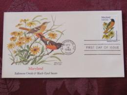 USA 1982 FDC Cover Washington - Maryland State Bird And Flower - Oriole - Etats-Unis