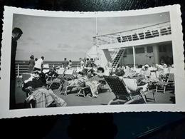 PHOTO ORIGINALE _ VINTAGE SNAPSHOT : PAQUEBOT _ UNITED STATES _ CROISIERE _ 1957 - Bateaux