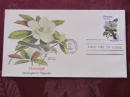 USA 1982 FDC Cover Washington - Mississippi State Bird And Flower - Magnolia - Etats-Unis