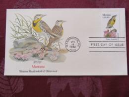 USA 1982 FDC Cover Washington - Montana State Bird And Flower - Etats-Unis