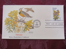 USA 1982 FDC Cover Washington - Nebraska State Bird And Flower - Etats-Unis