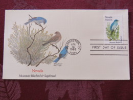 USA 1982 FDC Cover Washington - Nevada State Bird And Flower - Bluebird - Etats-Unis