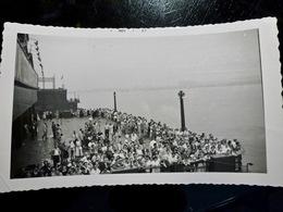 PHOTO ORIGINALE _ VINTAGE SNAPSHOT : PAQUEBOT _ UNITED STATES _ DOCK _ 1957 - Lieux