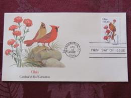 USA 1982 FDC Cover Washington - Ohio State Bird And Flower - Cardinal - Carnation - Etats-Unis