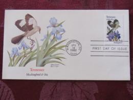 USA 1982 FDC Cover Washington - Tennessee State Bird And Flower - Iris - Etats-Unis
