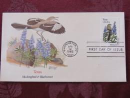 USA 1982 FDC Cover Washington - Texas State Bird And Flower - Mockingbird - Bluebonnet - United States