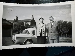 PHOTO ORIGINALE _ VINTAGE SNAPSHOT : AUTOMOBILE _ VOITURE _ STONGHURST _ ROYAUME UNI _ 1958 - Cars