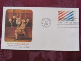 USA 1982 FDC Cover Washington - U.S. - Netherlands Treaty - Etats-Unis