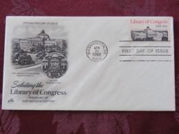 USA 1982 FDC Cover Washington - Library Of Congress - Etats-Unis
