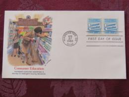 USA 1982 FDC Cover Washington - Consumer Education - Food - Supermarket - United States