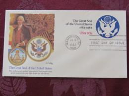 USA 1982 FDC Stationery Cover Washington - The Great Seal Of The United States - Pyramid - Eagle - Stati Uniti