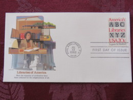 USA 1982 FDC Cover Philadelphia - Libraries Of America - Alphabet - United States