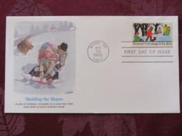 USA 1982 FDC Cover Snow - Season'sGreetings - Sledge - Dog - United States