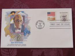 USA 1982 FDC Cover New York - Igor Stravinsky - Mujsic - Wheat Harvester - Stati Uniti