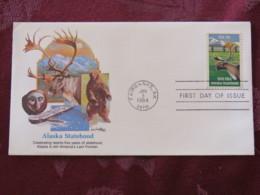 USA 1984 FDC Cover Fairbanks - Alaska Statehood - Bear - Elk - Ship - Stati Uniti