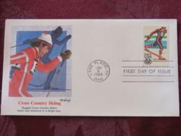 USA 1984 FDC Cover Lake Placid - Olympic Games - Cross Country Skiing Ski - Stati Uniti
