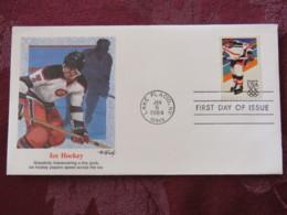 USA 1984 FDC Cover Lake Placid - Olympic Games - Ice Hockey - Etats-Unis