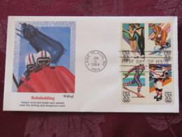 USA 1984 FDC Cover Lake Placid - Olympic Games - Winter Sports - Set - Bobsledding - Stati Uniti