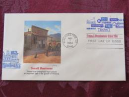 USA 1984 FDC Cover Washington - Small Business - Shops Bank Café Shoes - Lettres & Documents