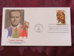 USA 1984 FDC Cover Denver - Douglas Fairbanks - Cinema Movie - King Of Hollywood - Lettres & Documents