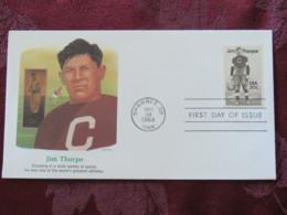USA 1984 FDC Cover Shawnee - Jim Thorpe - Football Baseball - Etats-Unis