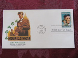 USA 1984 FDC Cover Boston - John McCormack - Irish Tenor Music - Etats-Unis