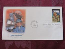 USA 1984 FDC Cover Washington - Crime Prevention - Police - Dog - Etats-Unis