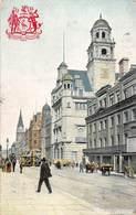 England Liverpool Dale Street, Tramways, Rail, Carts, Coat Of Arms 1906 - United Kingdom