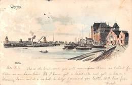 Germany Worms. Hafen Harbour Port Boats 1904 - Duitsland